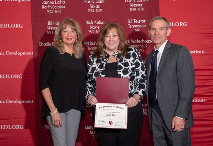 Workforce Center Director Angela Berch graduates OU EDI